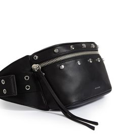 Womens Sid Leather Fanny Pack (black) - Image 5 Leather Fanny Pack, Leather Bag, Stylish Fanny Pack, Hip Bag, Sport Wear, Leather Accessories, Rock Style, Latest Fashion For Women, Leather Craft