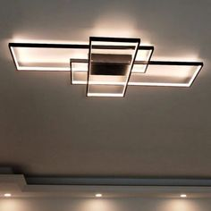 Contemporary ceiling light fixtures neo gleam rectangle aluminum modern led ceiling lights for livin Ceiling Light Fittings, Cool Light Fixtures, Living Room Light Fixtures, Modern Led Ceiling Lights, Ceiling Lighting, Track Lighting, Lighting Ideas, Club Lighting, Outdoor Lighting