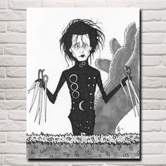 Octo Treasures is where artists, photographers, and commercial decorators go when they want their most important work printed and their most important spaces decorated.  Start creating your own customized wall art click the link for more info https://www.octotreasure.com  Style Your Home Today With This Amazing Tim Burton Movies Edward Scissorhands Classic Home Decoration Art Silk Fabric Poster 12x16 18x24 24X32 Inches Free Shipping For $13.00