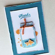 Goldfish Thanks Card by Chantelle Koor - Jar of Love