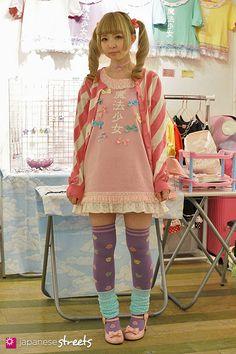 MOCO Harajuku, Tokyo SUMMER 2014, GIRLS Kjeld Duits STUDENT  Cardigan – Angelic Pretty Dress – Mello Socks – N/A Shoes – Angelic Pretty