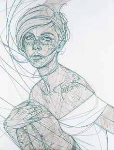 lohrien: Jason Thielke (Laser etch, lacquer, aerosol, ink on wood panel) website l tumblr