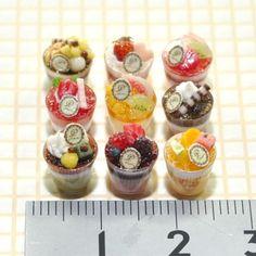 ミニチュアカップデザート Miniature dessert cups #miniature #mini #miniaturefood…