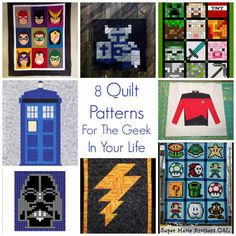 8 Quilt Patterns For The Geek In Your Life