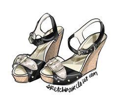 illustration for fashion blogSketchbook Closet, Adobe Photoshop portfolio | CADAMATRE