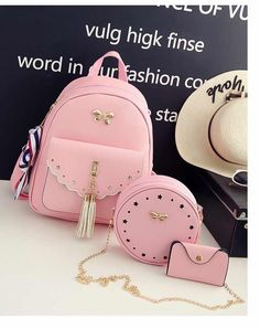 One has a date considering the night-time - and now you need a stlylish hold to finish up each of your look. Girly Backpacks, Cute Mini Backpacks, Stylish Backpacks, Small Women's Backpack, Lace Backpack, Purses And Handbags, Leather Handbags, Pink Handbags, Girls Bags