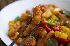 Sweet-sour chicken, sweet and sour sauce, Chinese food, Chinese cuisine, Asian cuisine Asian Recipes, Mexican Food Recipes, Ethnic Recipes, Sweet Sour Chicken, China Food, Heart Healthy Recipes, Asian Cooking, Mets, International Recipes