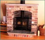 brick fireplace when you have no chimeny