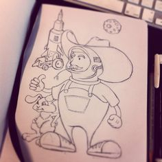 To the moon!!!! #doodles #drawing