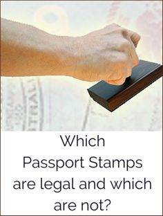 Read this guide on souvenir #PassportStamps to know which stamps are legal and which are not.