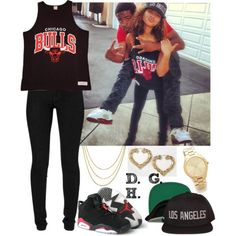 Chicago Bulls x Los Angeles., created by dopegenhope on Polyvore