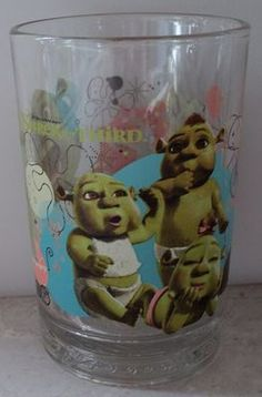 Shrek the Third Babies Donkey Dreamworks McDonalds Beverage Drinking Glass  ~ This Item is for sale at LB General Store http://stores.ebay.com/LB-General-Store ~Free Domestic Shipping ~
