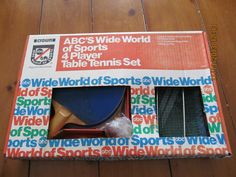 "Crown Recreation ""ABC's Wide World of Sports"" 4-Player Table Tennis Set"