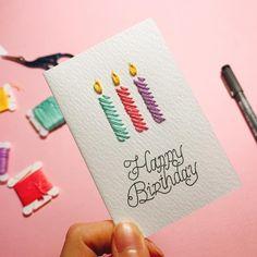 종이에 수놓아 만든 생일카드🎂 happy birthday💕 . . . . . . #daily #littlebylittle #mikeanis #art #artwork #artist #embroidery #embroideryart #handembroidery #handmade #needlework #illustration #candle #happybirthday #birthday #데일리 #자수 #손자수 #프랑스자수 #자작도안 #手刺繍 #刺繍 #ししゅう #刺繡 3d Birthday Card, Happy Birthday, Pop Up Cards, Crochet Projects, Paper Crafts, Gift Wrapping, Homemade, Lettering, Embroidery
