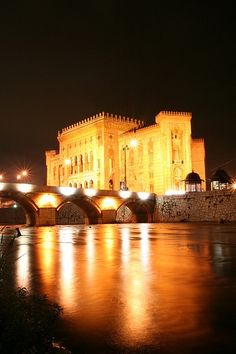 Sarajevo Old City Hall, Bosnia and Herzegovina.