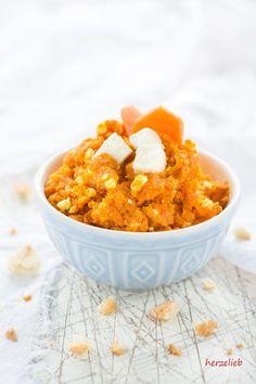 Schmeckt klasse zu Brot und zu Fisch - leckerer Karotten-Feta-Dip oder Aufstrich