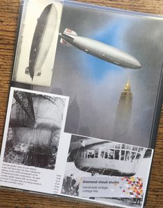 The Hindenburg Zeppelin Airship Vintage by diamondcloudstudio