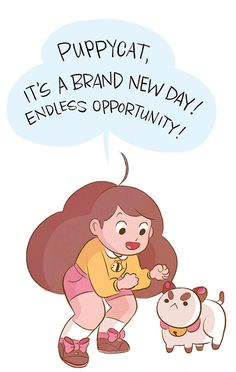 brittwilson:  boompen:  PuppyCat, It's a brand new day! Endless opportunity!  check out that amazing lettering. I'm not expert or anything, but I'd say that person has quite the amazing career ahead of him/her. yup.   BRITT WILSON, EVERYONE
