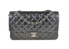 Chanel Black Classic Medium Double Flap Lambskin