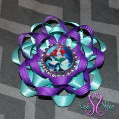 Sassy Sunflower Ariel Littel Mermaid Hair Bow by SassyStylesbySS