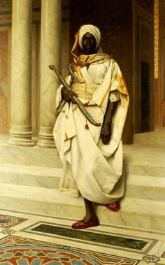 DEUTSCH Ludwig Austrian (Vienna 1855 - 1935 Paris 1935) ~ The Moors of Spain