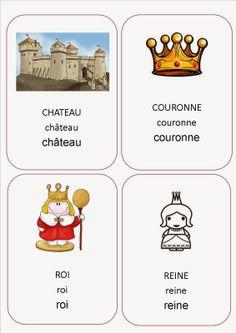 imagier projet roi, reine et château. World Thinking Day France