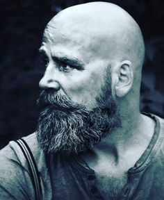 The best beard styles for bald men! If you are a bald man, then you need to grow any kind of beard! These beard styles are all pretty awesome! Long Beard Styles, Beard Styles For Men, Hair And Beard Styles, Viking Beard Styles, Faded Beard Styles, Goatee Styles, Bald Men With Beards, Bald With Beard, Bald Man
