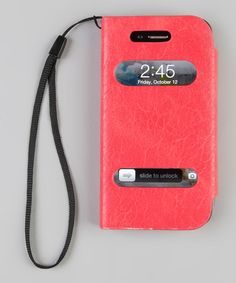 Take a look at this Salmon Wallet Case for iPhone 4/4S by Adventure in Color: Tech Accessories on #zulily today!