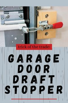 Garage Door Draft Stopper No matter how well-insulated your garage workshop is, chances are good that air leaks around the garage door, so you lose heating or cooling # Garage Workshop Plans, Garage Workshop Organization, Workshop Storage, Garage Plans, Garage Door Maintenance, Garage Door Repair, Garage Doors, Diy Garage Door Insulation, Mike Montgomery