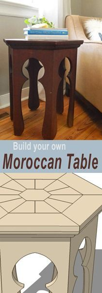 Moroccan Side Table Plans--the Pelican Girls suggest building your own and painting it Lilly-like