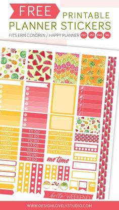 Planner Freebie! FREE printable planner stickers for Erin Condren Planner and Happy Planner!!