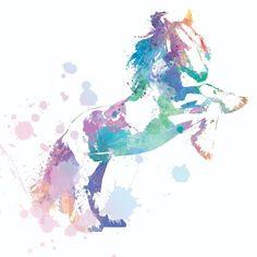 Création digitale pour un logo Pastel, Creations, Logo, Art, Horse, Paint, Drawing Drawing, Art Background, Cake