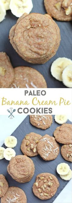So soft, so full of banana flavor, and made in the blender in 2 minutes, these paleo banana cream pie cookies are amazing! Naturally sweetened with banana, made with almonds, coconut flakes, egg white, vanilla, and love!