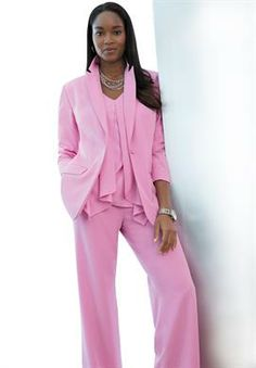 Spring's Fresh Pink | Plus Size Pant Suits | Jessica London