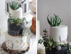 Succulent Cake Succulent wedding cake https://www.facebook.com/delicatesse.cake.design