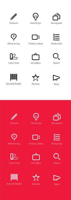 Icon Design: Derwent by Ozgur Ozserin, via Behance
