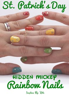 St. Patrick's Day Hidden Mickey Nails - Inspired By Dis