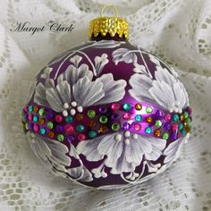 Found pretty bling to add to my MUD ornament - Margot Clark - SOLD!