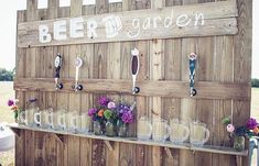 Beer Garden Keg Wall ~  Sporting Theme, Wedding Theme, Birthday Theme,