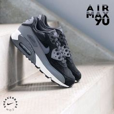 #nike #airmax90 #nikeairmax90 #nikeltr  Nike - Wmns Air Max 90 Lth- This Air Max 90 got a black upper with grey details. The comfortable fit and thick lining makes this sneaker an essential for the coming cold months!  Now online available   Priced at 144.99