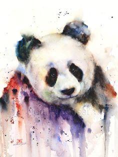 PANDA Watercolor Print by Dean Crouser by DeanCrouserArt on Etsy