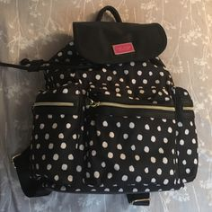 Betsey Johnson Backpack NWT. Authentic Betsey Johnson Polka Dot Backpack. Did not include S&H in original price.                                                                     Rules No trades  Offer via offer function Betsey Johnson Bags Backpacks