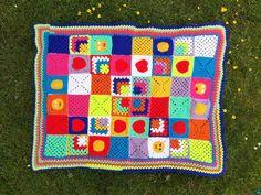 Bunt, Blanket, Crochet, Mantas Crochet, Random Stuff, Homemade, Handarbeit, Patterns, Ganchillo