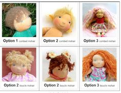 Mohair Doll wig - hair styles of LaFiabaRussa #tutorial #dollmaking #waldorf