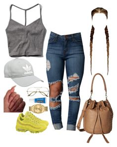 """""""Goddamn"""" by yungjazzyhoe ❤ liked on Polyvore featuring Abercrombie & Fitch, adidas, Bulova, Liebeskind, NIKE and Chapstick"""