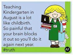 Kindergarten in August