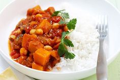 Keep it vegetarian friendly with this warming pumpkin and eggplant curry.