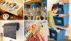 Top 24 Cheap and Easy Garage Organization Ideas Flylady, Garage Organization, Organization Ideas, Design Garage, Storage Center, Yard Tools, Devine Design, Home Builders, Clean House