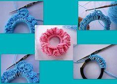 tığ işi örgü saç lastiği yapımı | TrT HaBeRCi.COM