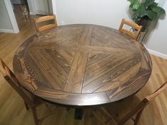 Round X Base Pedestal Dining Table | Do It Yourself Home Projects from Ana White
